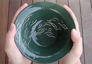 Handmade bowl for the Empty Bowls Fundraising event at the Academy